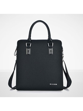 Solid Zipper Men Handbag