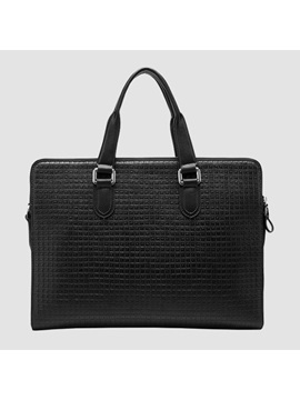 Solid Embossing Men Handbag