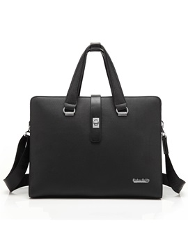 Vintage Style Zipper Solid Men Bag