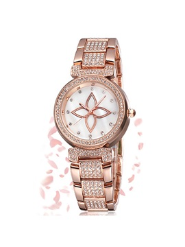 Alloy Water Resistant Women Watch