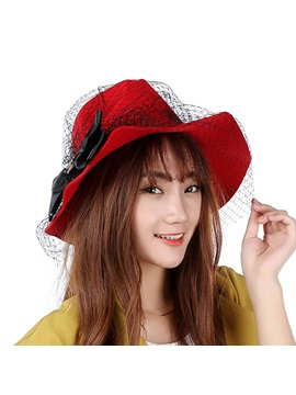 Mesh Wide Brim Women Hat