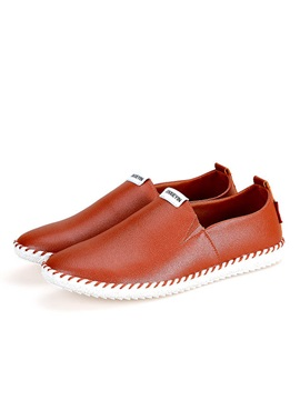 Thread Pu Slip On Loafers