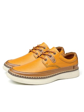 British Pu Thread Lace Up Mens Casual Shoes