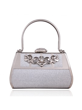 Retro Style Diamond Evening Bag With Rhinestones