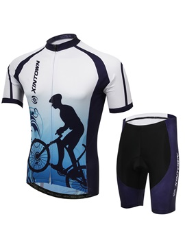 Polyester Short Sleeve Printed Cycling Outfit