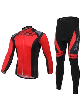 Multi Color Polyester Long Sleeve Cycling Outfit