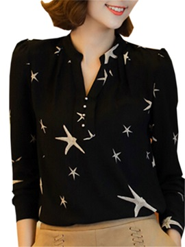 Special Star Pattern Slim Shirt