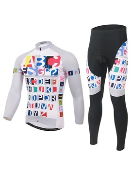 Polyester Long Sleeve Bike Jersey And Pant