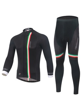 Polyester Black Full Zip Cycling Outfit