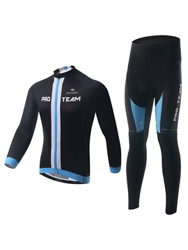 Contrasting Trim Full Zip Cycling Outfit
