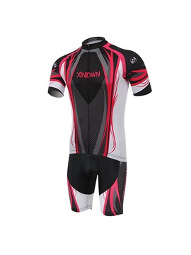 Stylish Polyester Short Sleeve Bike Jersey And Shorts