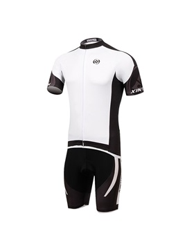 White Short Sleeve Cycling Outfit