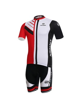 Polyester Breathable Short Sleeve Cycling Outfit