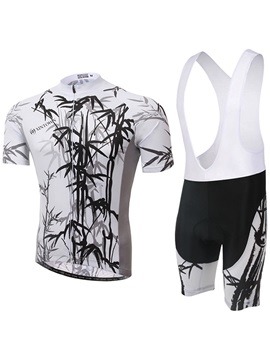 Bamboo Print Cycling Jersey And Bib Shorts