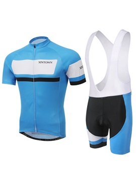 Streamlined Fit Full Zip Cycle Jersey And Bib Shorts