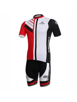 Color Block Cycle Jersey And Bib Shorts