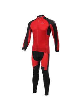 Red Long Sleeve Cycle Jersey And Pant