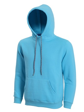 Solid Color Kangaroo Pocket Lace Up Mens Hoodie