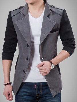 Contrast Color Single Breasted Mens Slim Fit Blazer