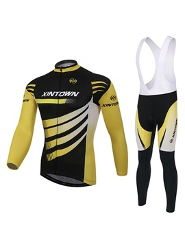 Windproof Fleece Cycling Jersey And Bib Pant