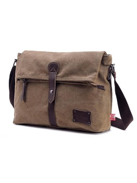 Magnetic Snap Canvas Mens Bag