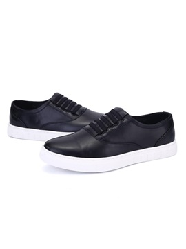 Pu Round Toe Slip On Skater Shoes