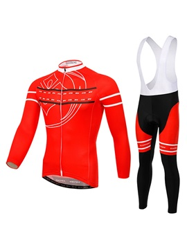 Red Full Zip Cycle Jersey And Bib Shorts