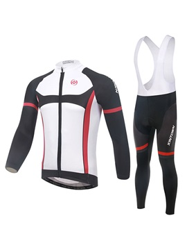 Contrasting Trim Full Zip Cycle Jersey And Bib Tights
