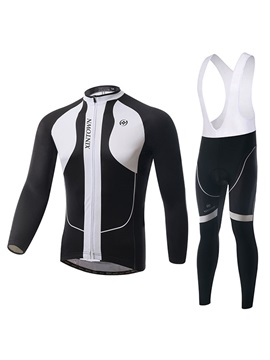 Professional Long Sleeve Cycle Jersey And Bib Tights