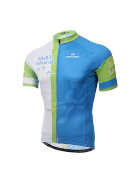 Contrasting Color Mens Cycling Jersey
