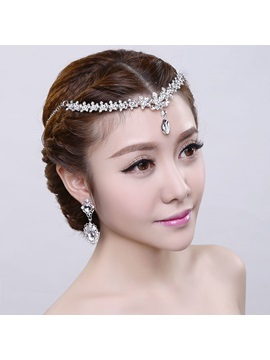 Chic Shinning Silver Rhinestone Wedding Headpiece