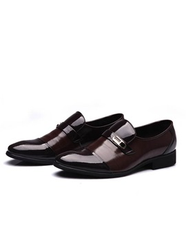 Pu Cape Toe Slip On Dress Shoes