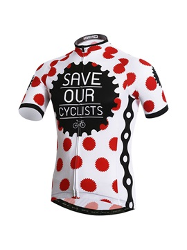 Polka Dots Short Sleeve Cycle Jersey