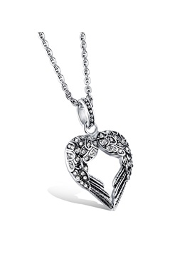 Retro Style Heart Shape Pendant Men Necklace