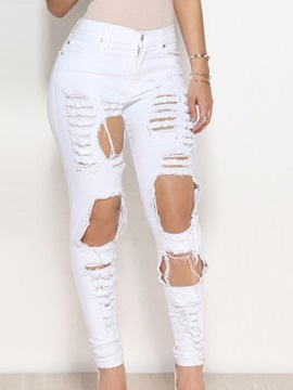 Delicate Ripped Stretchy Pencil Jean