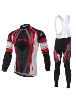 Multi Color Long Sleeve Cycle Jersey And Bib Pant