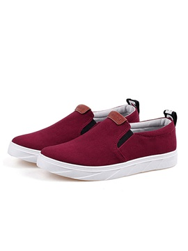 British Solid Color Suede Slip On Loafers