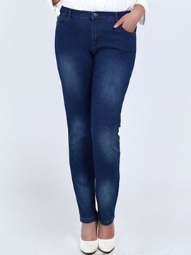 Plus Size Skinny Womens Pencil Jean