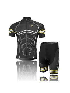 Muscles Print Short Sleeve Cycle Jersey And Shorts