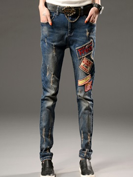 Simple Appliques Worn Womens Haren Jean