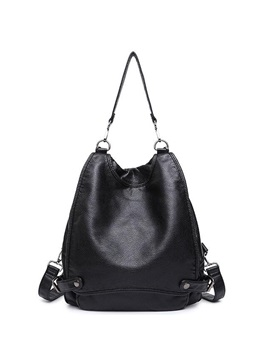 Casual Pu Solid Backpack