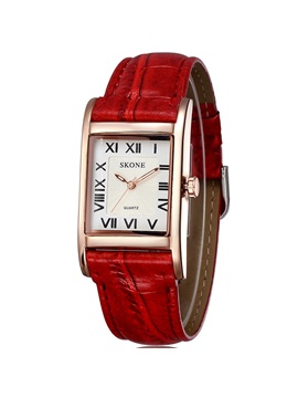 Rectangle Pu Band Women Watch