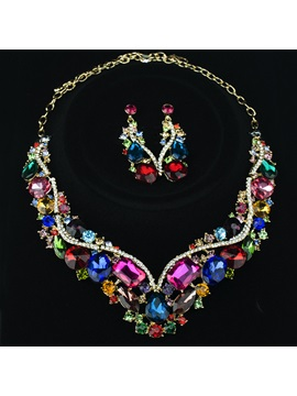 Alloy Rhinestones Graceful Women Jewelry Set