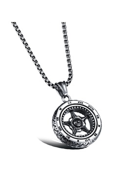 Tire Shape Pendant Men Necklace