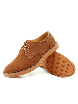 Suede Lace Up Front Mens Casual Shoes