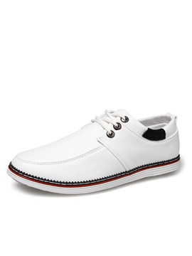 Pu Round Toe Casual Shoes