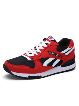 Breathable Lace Up Mens Running Shoes