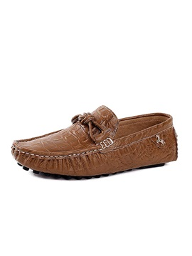 Embossed Pu Slip On Mens Loafers
