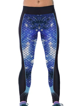 Chic Fish Scale Designed Slim Leggings