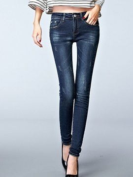 Slimming Frayed Curvy Fit Jean